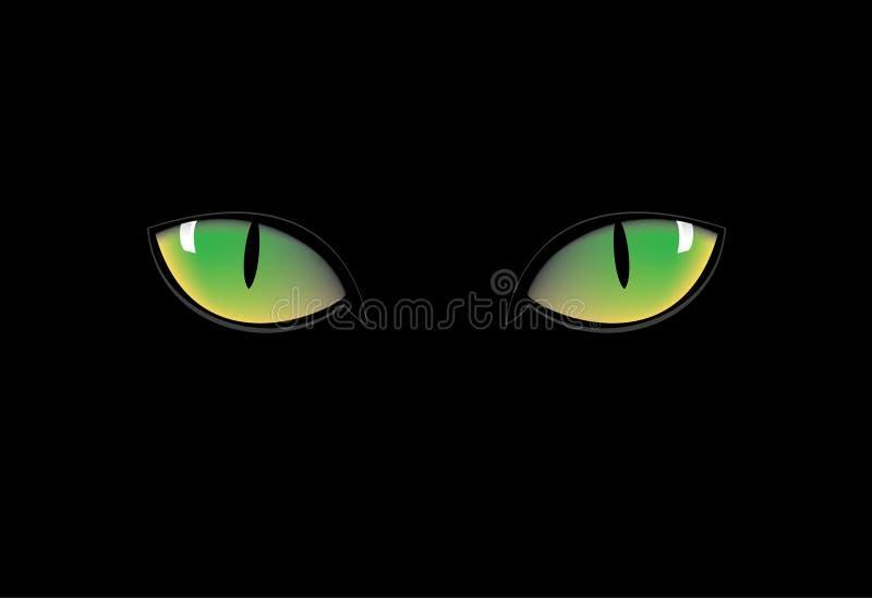 Groene kattenogen vector illustratie