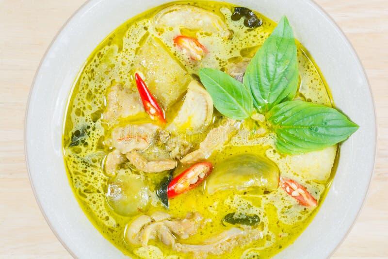Groene kerriekip, Thais traditioneel en populair voedsel, Groen Cu royalty-vrije stock foto
