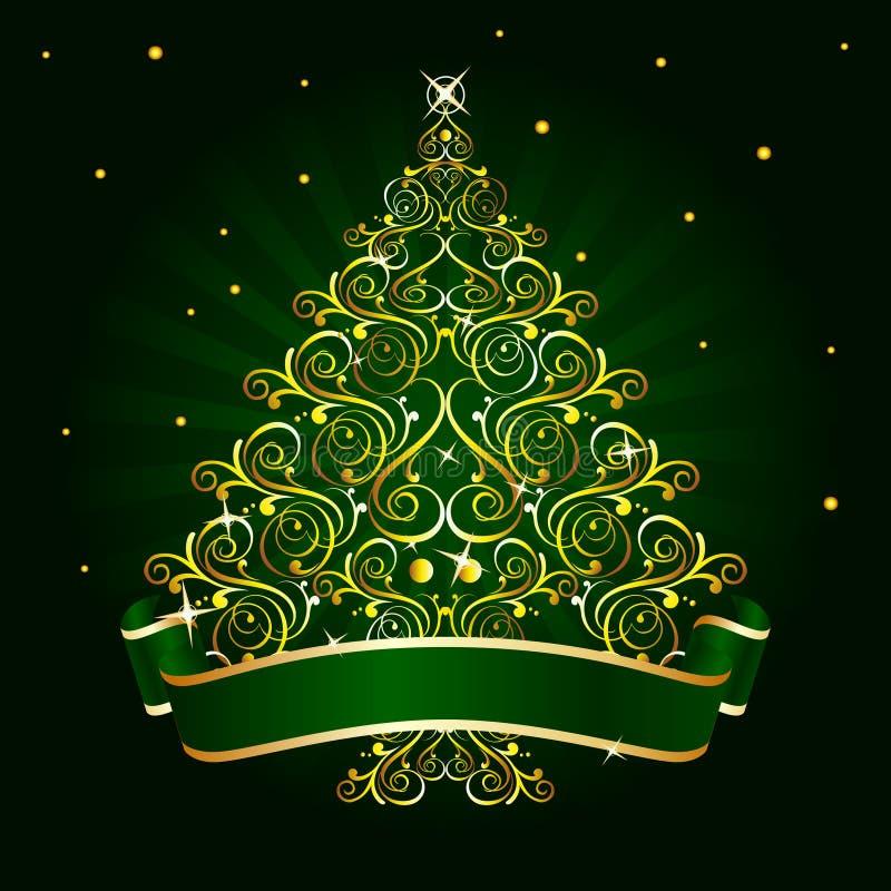 Groene kerstboom royalty-vrije illustratie