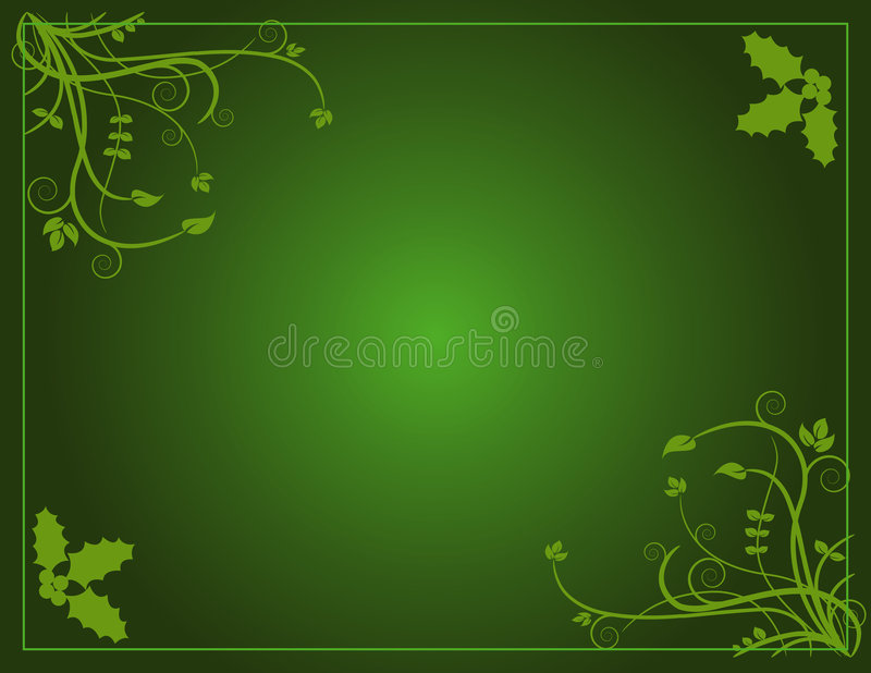 Groene Kerstmis vector illustratie