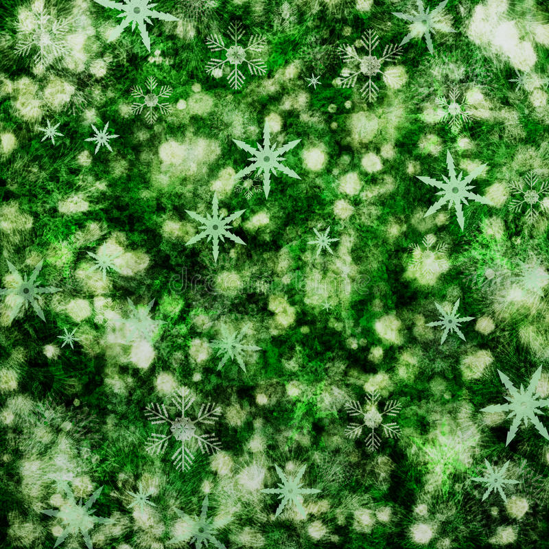 Groene Kerstmisachtergrond stock illustratie