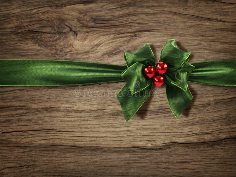 Groene Kerstmisboog stock foto's