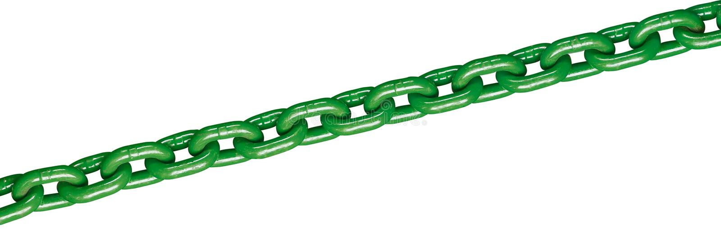 Groene ketting stock foto