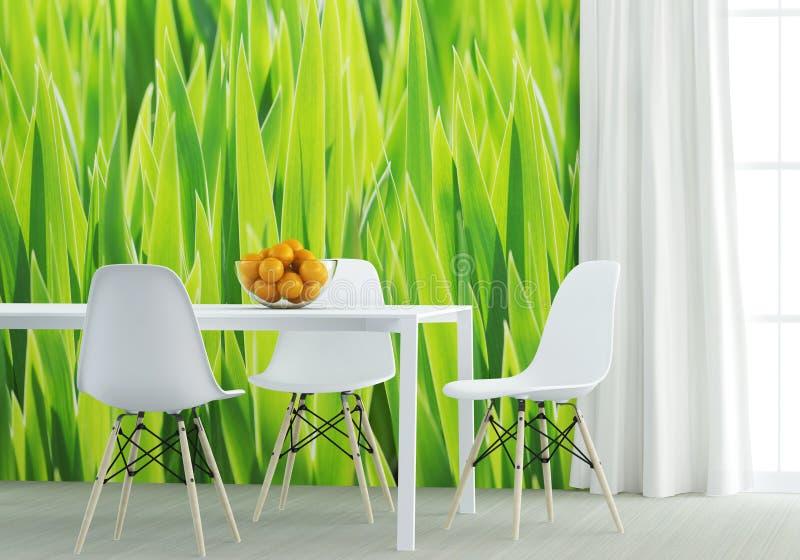 Groene keuken royalty-vrije stock foto's
