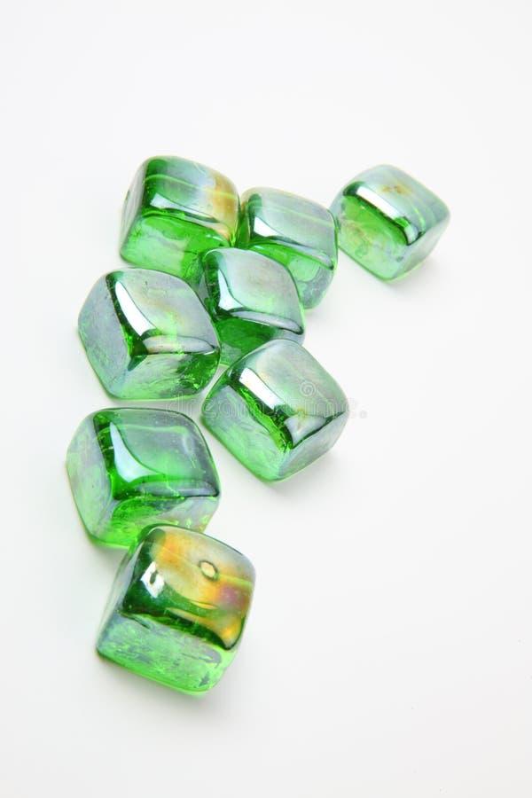 Groene kiezelstenen stock foto
