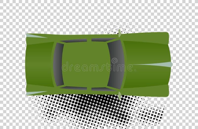 Groene klassieke auto van hoogste menings vectorillustratie Vlakke ontwerpauto Illustratie voor vervoerconcepten, auto royalty-vrije illustratie