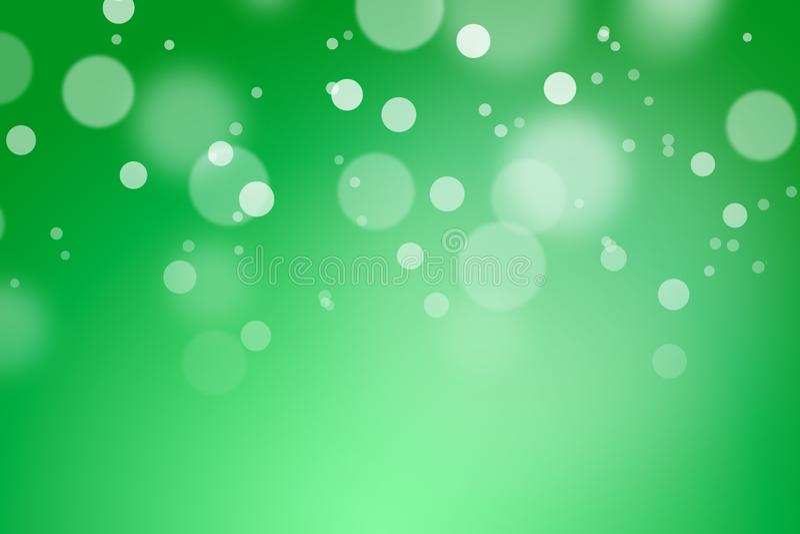 Groene kleurenachtergrond met bokeh stock foto's