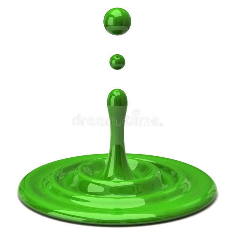 Groene kleurendaling royalty-vrije illustratie