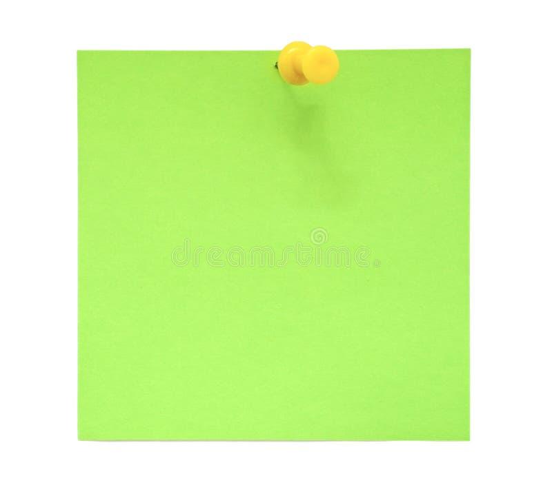 Groene kleverige nota royalty-vrije stock foto