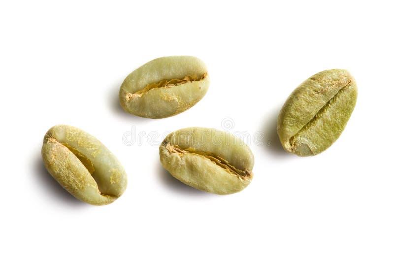 Groene koffiebonen royalty-vrije stock afbeelding