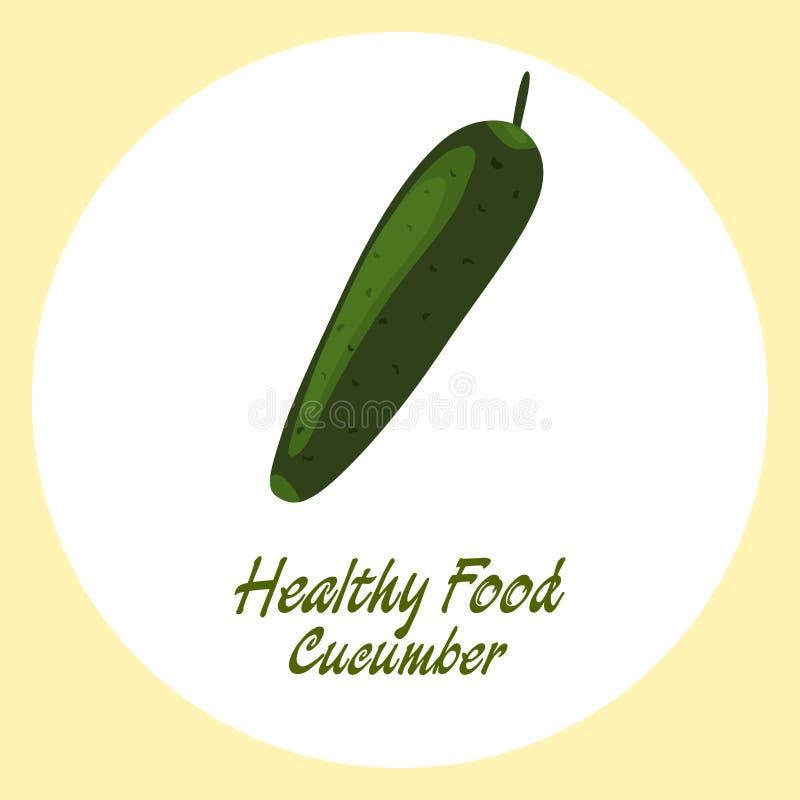 Groene komkommer stock illustratie