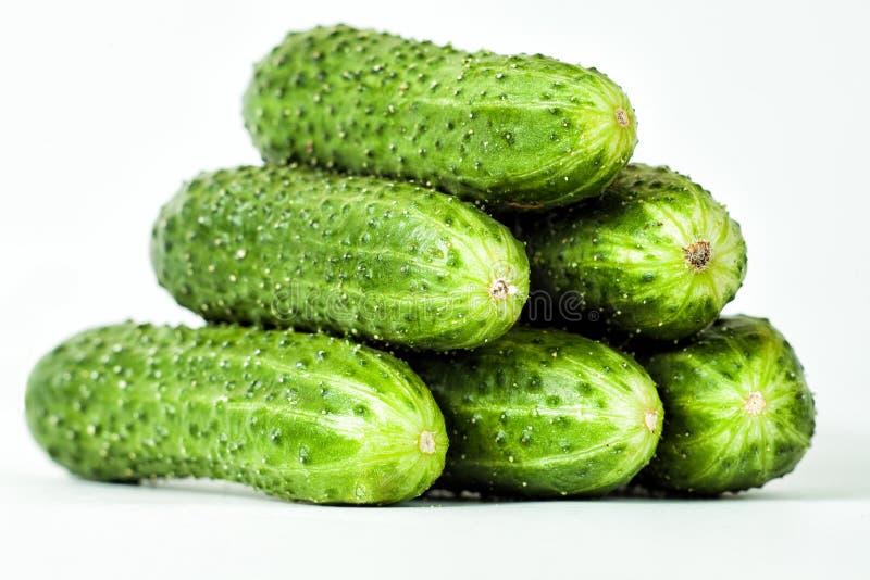 Groene komkommer drie stock foto's