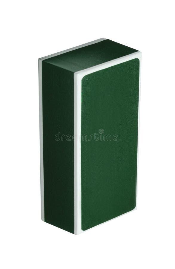 Groene kosmetische verpakkende doos stock afbeeldingen