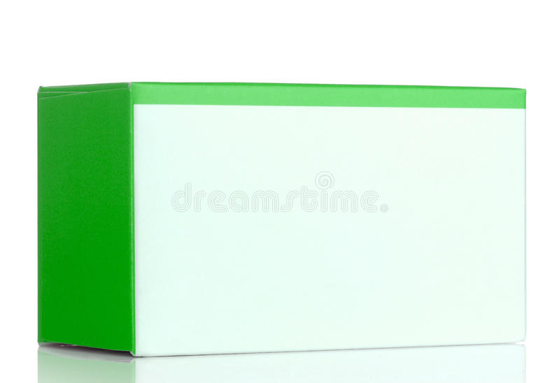 Groene kosmetische verpakkende doos stock foto