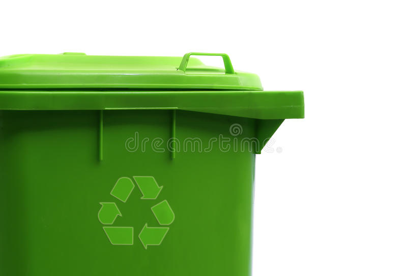 Groene kringloopcontainer royalty-vrije stock foto