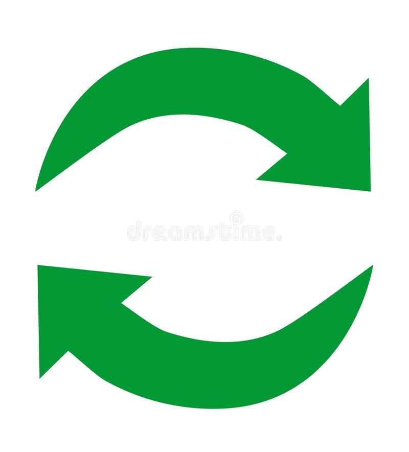 Groene kringlooppictogrammen stock illustratie