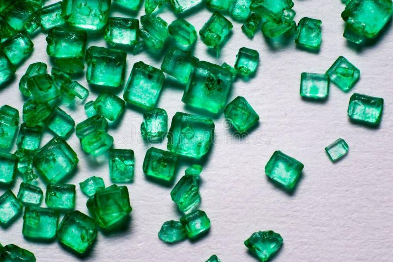 Groene kristallollies royalty-vrije stock afbeelding