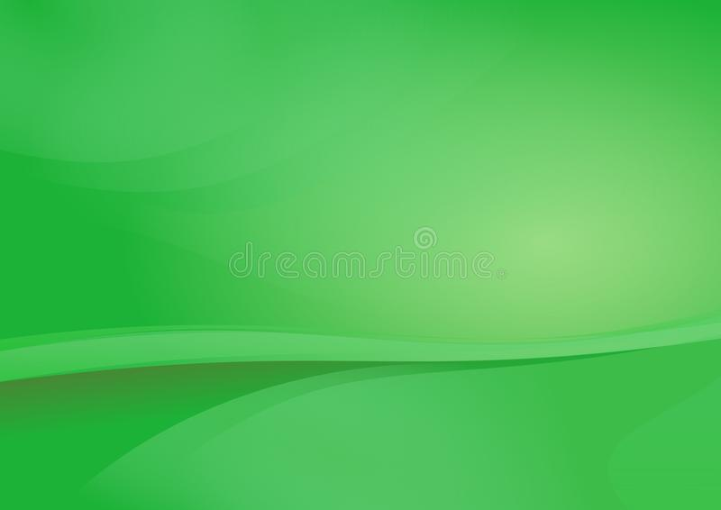 Groene Kromme Abstracte Vector Als achtergrond vector illustratie