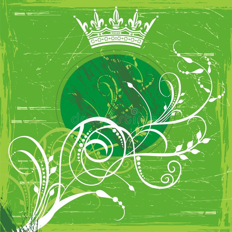 Groene kroonachtergrond stock illustratie