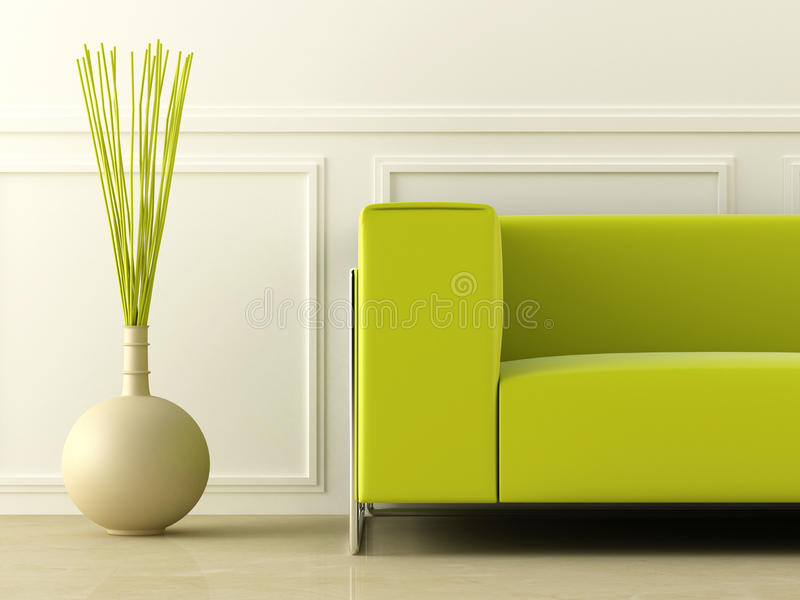 Groene laag in witte ruimte