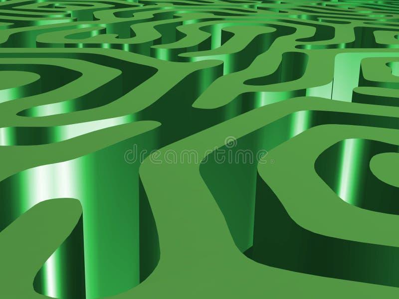 Groene labyrint en hemel royalty-vrije illustratie