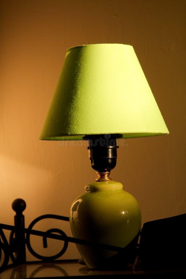 Groene lamp royalty-vrije stock foto's