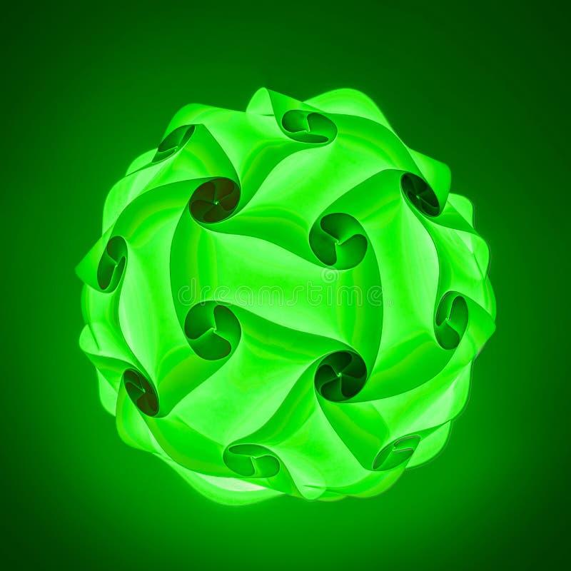 Groene lampekap vector illustratie