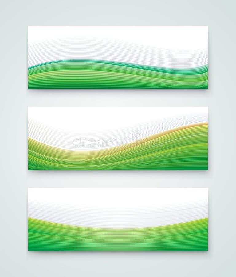 Groene Landschapsbanner royalty-vrije illustratie
