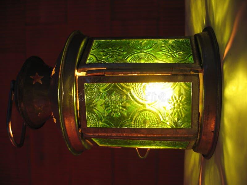 Groene Lantaarn Royalty-vrije Stock Afbeeldingen