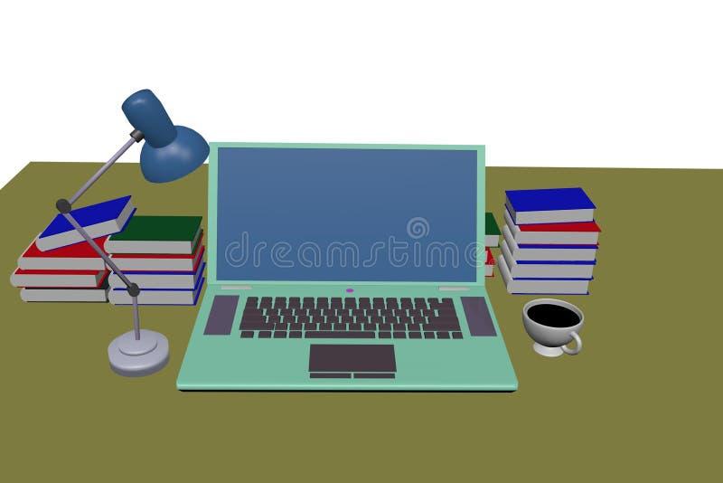 groene laptop computer royalty-vrije stock foto