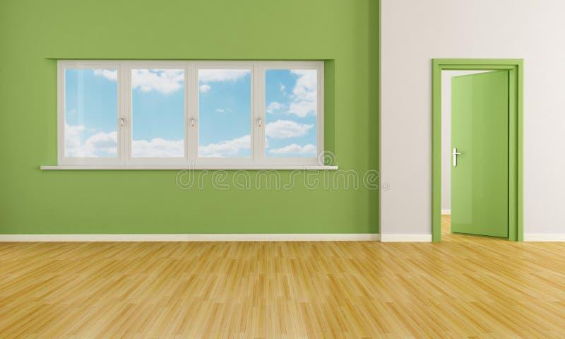Groene lege ruimte royalty-vrije illustratie