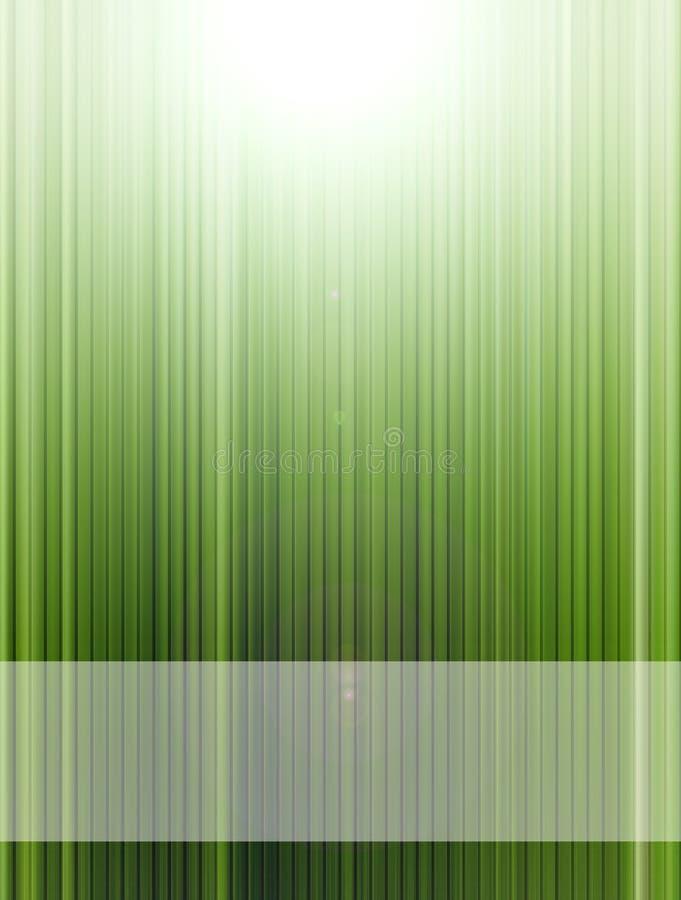 Groene lijnen royalty-vrije illustratie