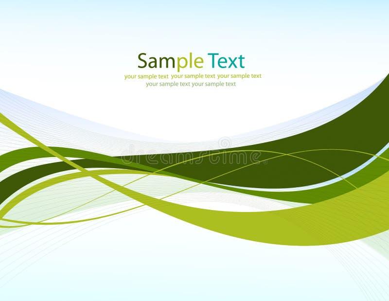 Groene lijnen. Abstracte vectorachtergrond royalty-vrije stock foto