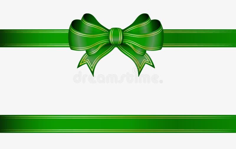 Groene lint en boog vector illustratie