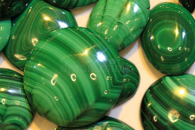 groene malachiet minerale textuur royalty-vrije stock foto