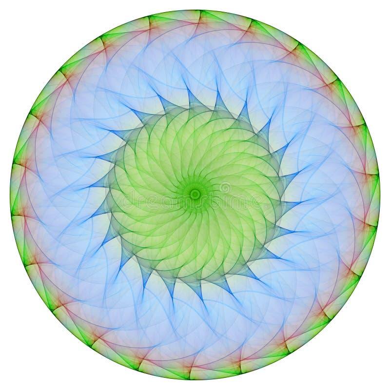 Groene mandala stock illustratie