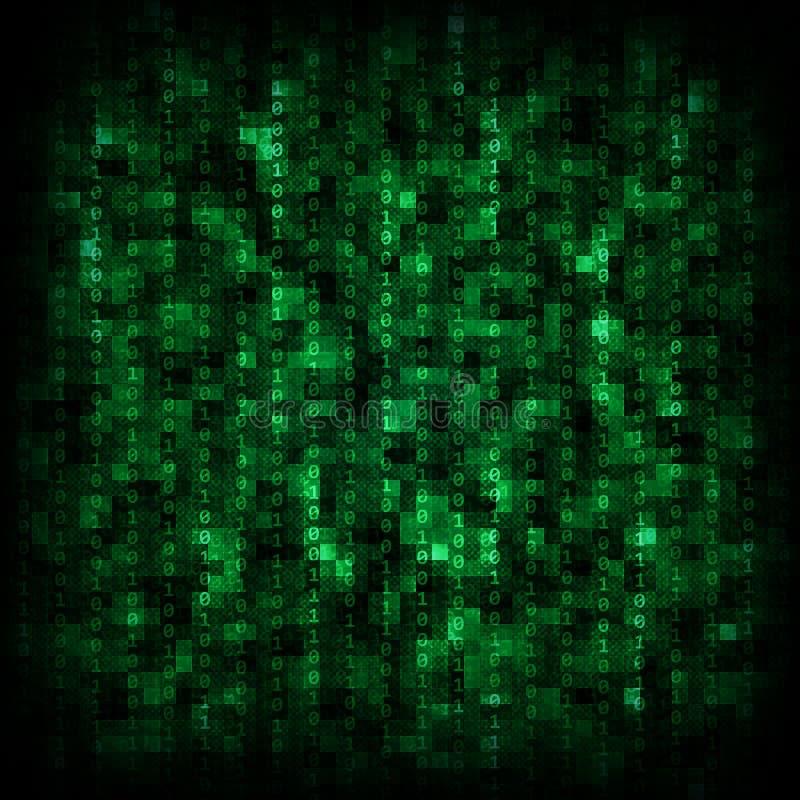 Groene matrijsachtergrond stock afbeeldingen