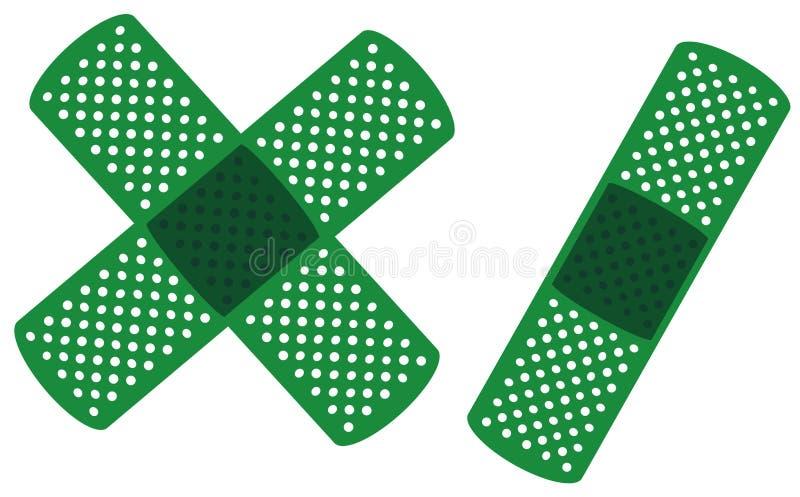 Groene medische band drie stock illustratie