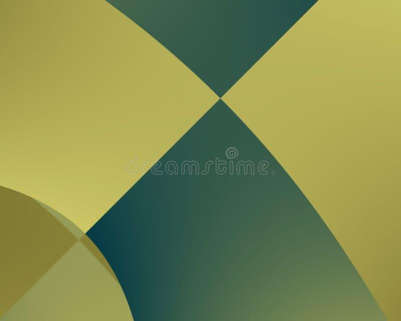 Groene meetkunde royalty-vrije illustratie