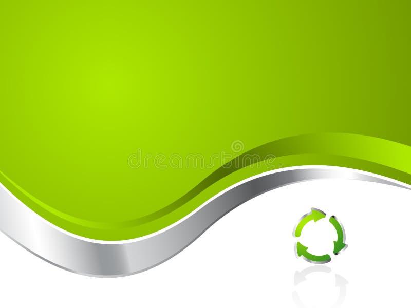 Groene Milieu Van het Bedrijfs recycling Achtergrond stock illustratie
