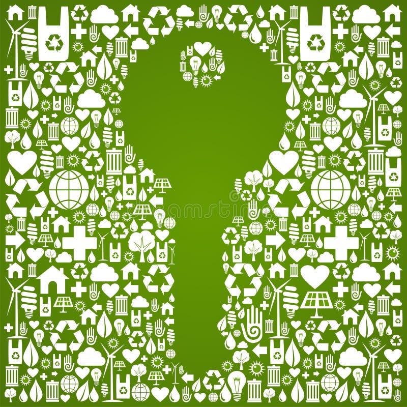 Groene milieu zeer belangrijke achtergrond stock illustratie