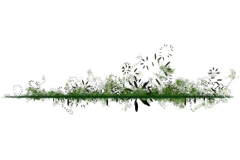 Groene Milieuvriendelijke Abstracte Achtergrond royalty-vrije illustratie