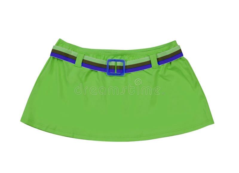 Groene miniskirt stock fotografie