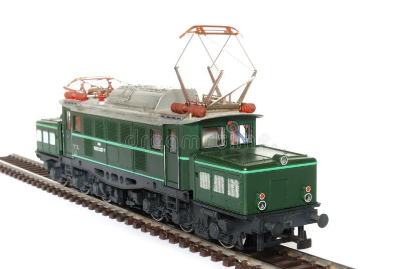 Groene modelspoorweg royalty-vrije stock afbeelding