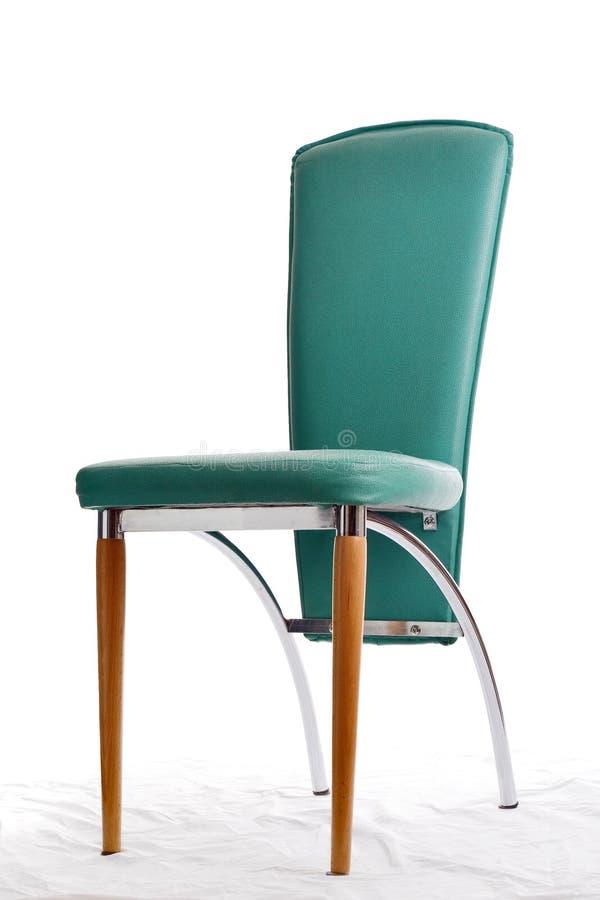 Groene modieuze stoel stock foto's