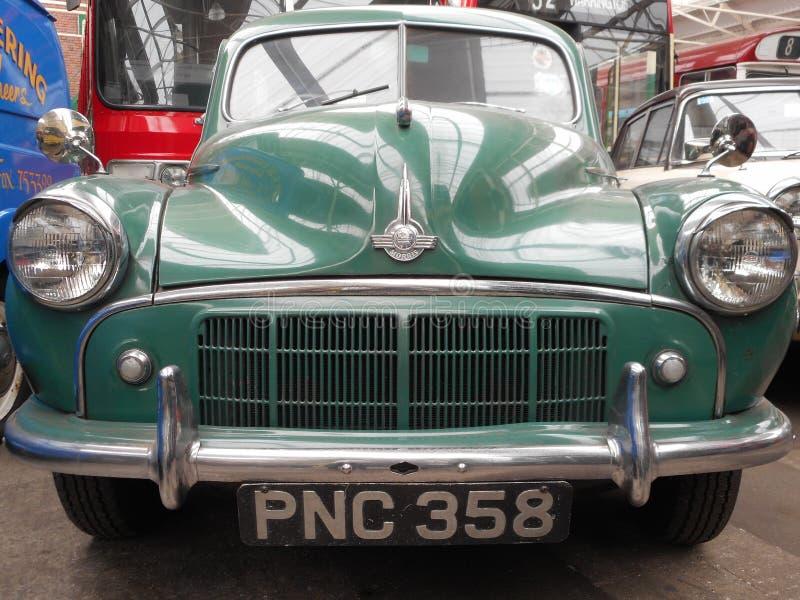 Groene Morris-auto stock fotografie
