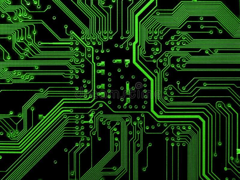 Groene motherboard stock fotografie