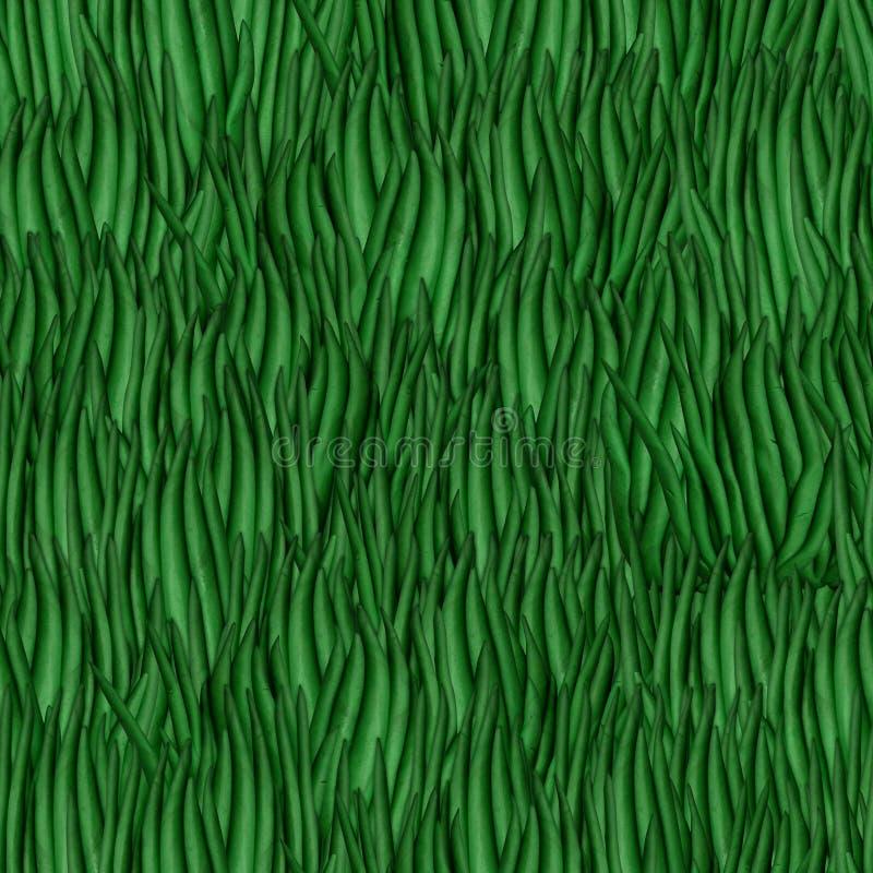 Groene naadloze textuur die het gazon simuleren royalty-vrije stock foto