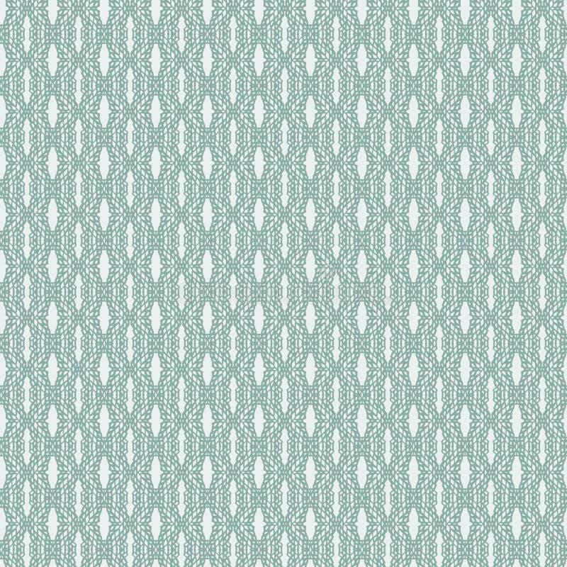 Groene naadloze vector het patroonachtergrond van de kanttextuur Het ontwerp van het oppervlaktepatroon voor stof, het scrapbooki vector illustratie