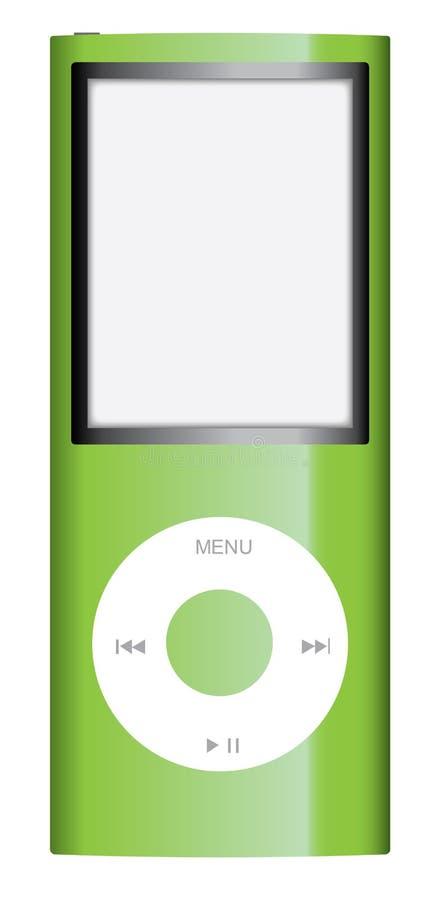 Groene nano appel ipod stock illustratie